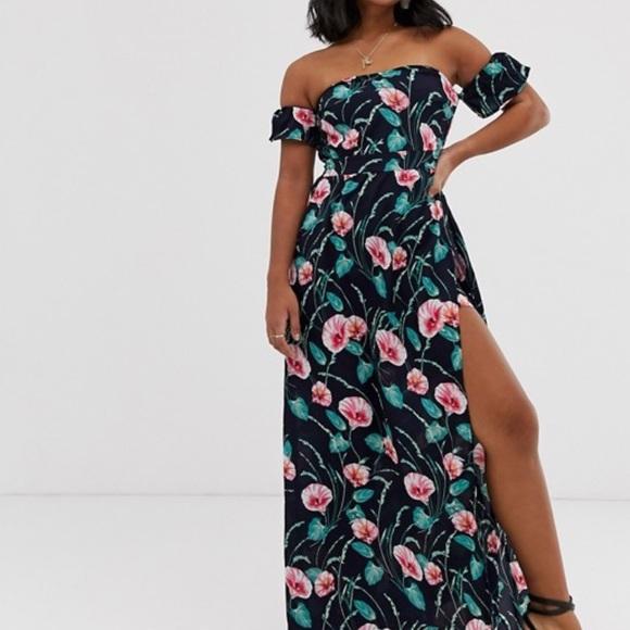 ASOS Petite Dresses & Skirts - 💗ON SALE💗 Parisian Navy Floral Maxi Dress NWT